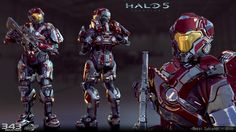 ArtStation - Halo 5 Cypher Armor, Royal Sybrandt