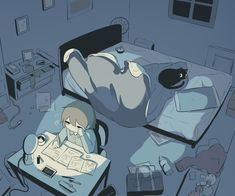 Find images and videos about art, anime and cat on We Heart It - the app to get lost in what you love. Dark Art Illustrations, Illustration Art, Sad Anime, Anime Art, Arte Peculiar, Character Art, Character Design, Sun Projects, Anime Triste