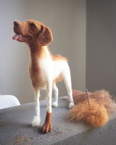 needle felted animals What? Another ginger? What a surprise! Needle Felted Cat, Needle Felted Animals, Felt Animals, Felt Dogs, Felt Cat, Wet Felting, Fox Stuffed Animal, Wool Dolls, Felted Wool Crafts