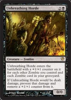 Unbreathing-Horde-FOIL-x4-Magic-the-Gathering-4x-Innistrad-mtg-card-lot-NM
