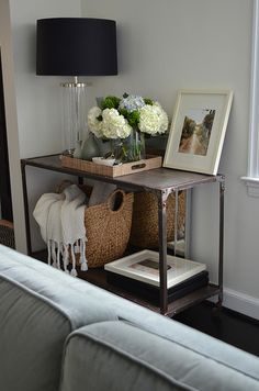 Like the placement of the basket and server tray with flowers.