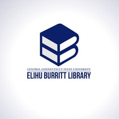 Elihu Burritt Library at CCSU reveals new student-designed logo Library Logo, Sweet Logo, Ad Libs, Advertising, Ads, New Students, Logo Design Contest, State University, Branding