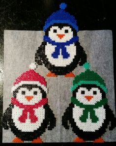 Diamond Painting Penguins Penguins Preventing Bathroom Mold Your bathroom is one of the Perler Bead Designs, Hama Beads Design, Perler Bead Art, Fuse Bead Patterns, Perler Patterns, Beading Patterns, Handmade Christmas, Christmas Crafts, Christmas Ornaments
