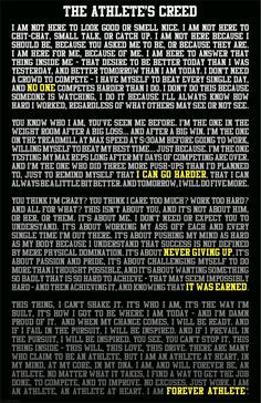 Thank you Q, this means so much to me <3 Athlete's Creed, Thank you for whoever made this