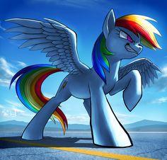 #1213490 - artist:murskme, grin, kanji, mountain, rainbow dash, safe, solo, spread wings - Derpibooru - My Little Pony: Friendship is Magic Imageboard