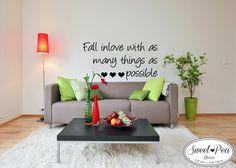 Fall in-love Sticker (SWP004) by Sweet Pea Decor