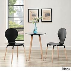 Modway Path Dining Chair, Black, Set of 2