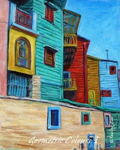 Benito Quinquela Martin The color in this painting is absolutely stunning and makes me feel like I'm actually at a little beach town. ~Via Born Monutti Poster S, Poster Prints, Paper Doll House, City Art, American Artists, House Painting, Art For Kids, Original Art, Colours