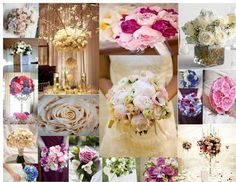 Fabulously Floral Wedding Moodboard designed by a member of hitched.co.uk