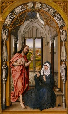 Christ Appearing to His Mother  Artist: Juan de Flandes (Netherlandish, active…