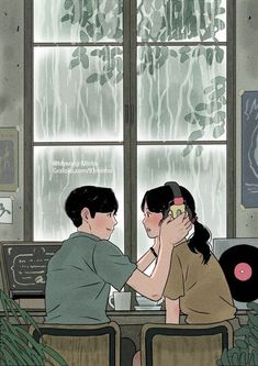 Heart-Warming Illustrations Depict The Romantic Moments Of A. Heart-Warming Illustrations Depict The Romantic Moments Of A Happy Couple. Paar Illustration, Free Illustration, Couple Illustration, Korean Illustration, Illustration Art Drawing, Cute Couple Drawings, Cute Couple Art, Cute Drawings, Cute Couples