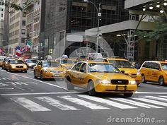 Photo about The famous yellow cabs take over a street in New York in a weekday. Image of landscape, rushing, architecture - 147517475 Beautiful Day, Beautiful Places, Fireworks Photography, Landscaping Images, New York Street, Taxi, Nyc, Stock Photos, Yellow