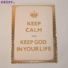 Keep Calm - Crisma - Grãos de Açúcar - Bolos decorados - Cake Design Cake Cookies, Cupcakes, Cake Design, Mini Cakes, Keep Calm, Confirmation, First Holy Communion, Decorating Cakes, Sentences