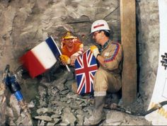 Today in 1990 English and French Channel Tunnel workers met in the middle