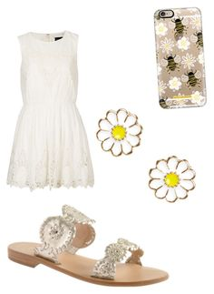 """""""😄"""" by ekkiwitz ❤ liked on Polyvore featuring Monsoon, Jack Rogers, Topshop and Casetify"""