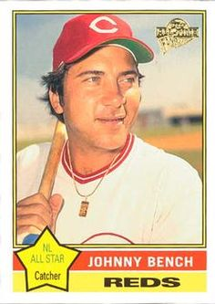 2004 Topps All-Time Fan Favorites Johnny Bench Front Baseball Players, Baseball Cards, Johnny Bench, Cincinnati Reds Baseball, Trading Card Database, Award Winner, All Star, Mlb, All About Time