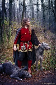 Viking and Wolfhounds! A Hiberno-Norse themed photoshoot in Moscow with Irish Wolfhounds… | Kira Hagen