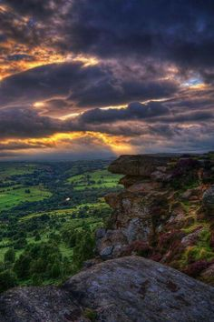 Storm Clouds, Peak District, England, UK