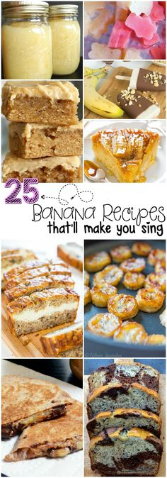 I am always looking for things to make with bananas. These banana recipes are awesome.