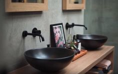 Stunning shot from a Wheelers Hill property we found on @realestateaus. This bathroom space features our Vivid Slimline Wall Mixers and Outlets in Matte Black!  To view more Phoenix Products follow the link >>>> http://www.phoenixtapware.com.au/