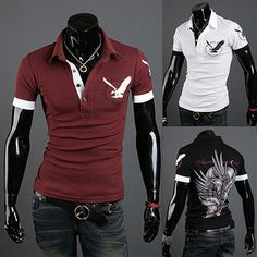 Eagle Men Fashion Slim Fit Polo Tee | Sneak Outfitters