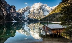 """Reflection - Last weekend I have been on a short trip to Dolomites / Italy with <a href=""""https://500px.com/AlexGaflig""""> AlexGaflig </a> and  <a href=""""https://500px.com/fabianleitz""""> FabianLeitz </a>. We were driving about 7 hours to find out that early May is not the best time to visit this amazing place :-) Still a lot of snow there. However, we could get some nice shots of some beautiful lakes. ------- Contact or follow me on:   - EMAIL: cludes-photography@gmx.de <a…"""
