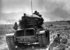 Iran Army M60A1 during Iran-Iraq War.
