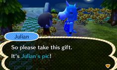 Julian gave me his picture! #animalcrossing