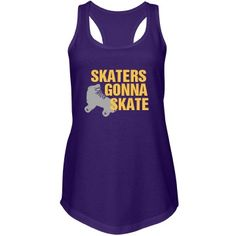 Skaters Gonna Skate Junior Fit Next Level Racerback Terry Tank Top