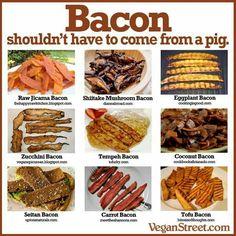 Vegan bacon options