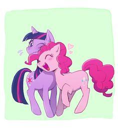 #769443 - artist:baekgup, lesbian, love heart, pinkie pie, safe, shipping, twilight sparkle, twinkie - Derpibooru - My Little Pony: Friendship is Magic Imageboard