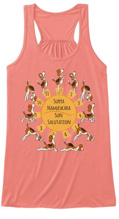 Cute Beagle Doing Yoga /More Color Women's Tank Top donation to animal rescue Cute Beagles, How To Do Yoga, Animal Rescue, Coral, Tank Tops, Fashion, Halter Tops, Moda, La Mode