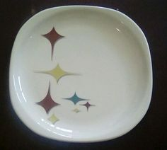 Syracuse China Trends Jubilee Mid Century Atomic Diamond Salad Plate #SyracuseChina