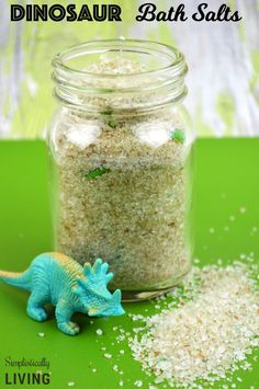 Homemade Dinosaur Bath Salts Simplistically Living