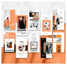 I feel like it's very difficult to use orange and black without the item looking halloween theme, but they did a great job using orange and black with this branding Instagram Design, Instagram Story Template, Instagram Story Ideas, Instagram Feed, Instagram Templates, Portfolio Design Layouts, Portfolio Book, Design Portfolios, Social Media Banner