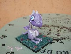Baby dragon polymer clay