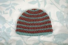 Alli Crafts: Free Pattern: Thick and Thin Striped Beanie - 3 months