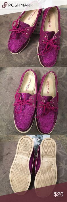 best sneakers 2251c f784e Glitter Purple Sperry Top-Sider 