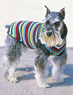 Yarnspirations.com - Bernat Dog Coat  | Yarnspirations//Sizes S-XL (chest 10-30in/25.5-76cm). Designed in Bernat Super Value on sizes 4 mm (US F) and 4.5 mm (US G) crochet hook.