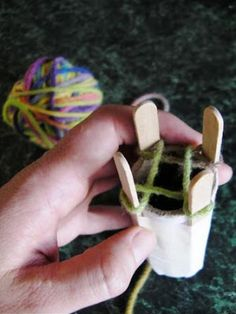 Hinterland Mama: How to make a French Knitter (Knitting Nancy)
