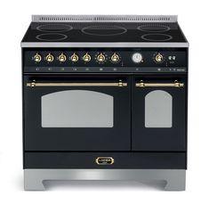 Lofra - Dolce Vita 90 cm (induksjon) Messingdetaljer (2 ovn) | Range Cookers fra MyRangeCooker.no