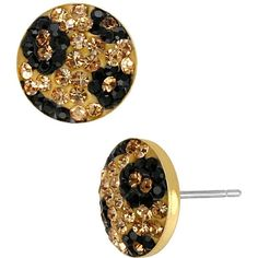 Betsey Johnson Pave Leopard Circle Stud Earring - Polyvore