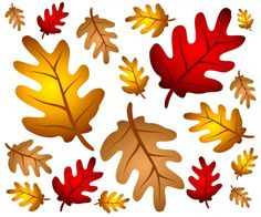 graphic relating to Autumn Leaves Printable known as Leaf Templates