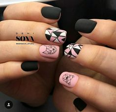 15 Awesome Geometric Nail Art Designs You Will Fall in Love with - Complex geometric nail art Cute Acrylic Nails, Acrylic Nail Designs, Cute Nails, My Nails, Nail Art Designs, Creative Nail Designs, Creative Nails, Trendy Nail Art, Stylish Nails