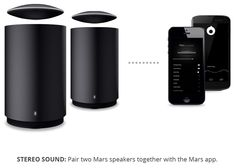 will ich haben!  Mars by crazybaby: A Levitating Bluetooth Speaker | Indiegogo. Not only does it levitate for 360 degrees of sound, it's made of aircraft grade aluminum, water proof, and has an 8 hour battery. Plus! It can connect with your phone via bluetooth to work as a speakerphone, with two USB ports in the subwoofer to charge your electric devices
