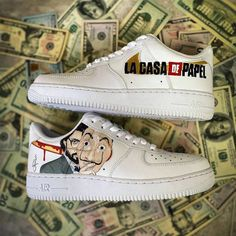 Nike Shoes Air Force, Nike Air Force Ones, Jordan Shoes Girls, Girls Shoes, Custom Sneakers, Custom Shoes, Quinceanera Shoes, Sneakers Fashion, Fashion Shoes