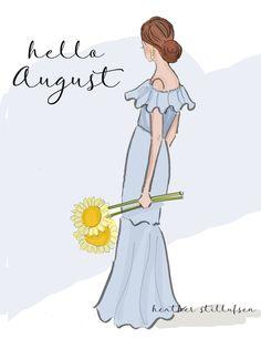 Rose Hill Designs © by Heather Stillufsen Days And Months, Months In A Year, August Quotes, Hello August, August Baby, Hello Weekend, Hello Summer, New Month, August Month