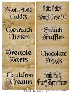 Printable labels for candy