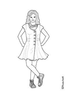 Karen`s Paper Dolls: Anne Lise Dressed to Print and Colour. Anne Lise klædt på til at printe og farvelægge.