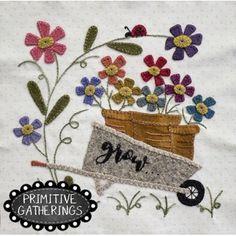 Farmhouse Threads Garden Mystery Stitch A Long-Grow